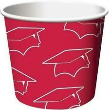 """Graduation Red Treat Cups 6 Pack Size 2.25"""" x 3.5"""" Red Graduation Party Supplies"""