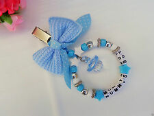 Personalised stunning pram charm in blue for baby boys ideal gift
