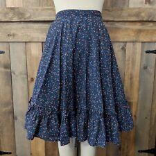 Vintage Cotton Ruffle Hem Skirt Xl