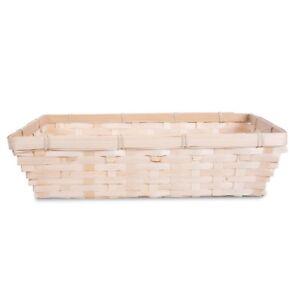 10 x Bamboo Natural Color Wicker Bread Basket Shop Display Christmas Hamper