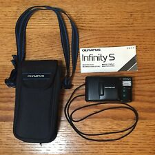 Olympus Infinity S 35mm Point Shoot Film Camera With Case & Instruction Booklet