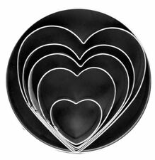 Fox Run 5 pc Heart Stainless Steel Cookie Cutter Set - Biscuit Pastry Mold