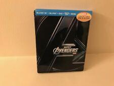 MARVEL AVENGERS 3D BLURAY+BLURAY+DVD  STEELBOOK