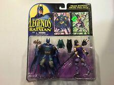 DC Legends of Batman Egyptian Batman/Catwoman action figures 1995 New ERROR