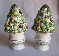 Salt & Pepper Shaker Set Fitz & Floyd Winter Garden Pattern New in Box