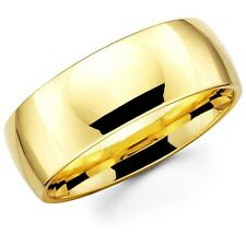 Mens Women Solid 14K Yellow Gold Plain Wedding Ring Band Comfort Fit 8MM Size 8