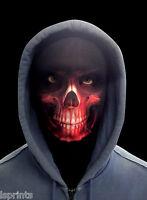ScaryHalloween Face Mask - Horror Red Grim Reaper Fancy Dress - Fabric Snood