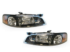 DEPO EURO STYLE BLACK HOUSING HEADLIGHTS FIT FOR 00-01 NISSAN ALTIMA DOT / SAE
