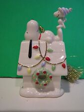 LENOX SNOOPY'S HOME FOR THE HOLIDAYS Dog house Christmas ornament NEW in BOX