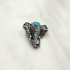 Fashion Jewelry Turquoise Elephant Snaps Chunk Charm Button For Noosa Bracelets