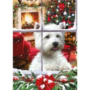 Christmas Jigsaw Puzzle   1000 Pieces   WESTIE DOG 'Waiting for Santa'   New
