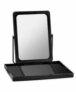 Mary Kay Folding Make-Up Travel Mirror with Tray And Carrying Case - Black