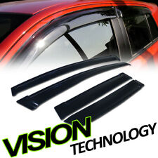 For 07-08 Honda Fit Rain/Wind Guard Smoke Tint Shade Deflector Window Visors 4Pc