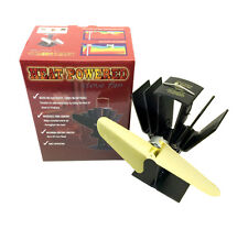 Gold Eco Friendly Heat Powered Stove Fan Wood-Burning Gas Multi-Fuel Fireplace