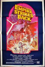 Original STAR WARS MOVIE POSTER THE EMPIRE STRIKES BACK R820180 27x41 1980