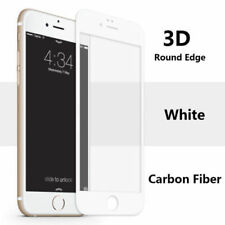 For Apple iPhone 8 3D Full Edge to Edge White Tempered Glass Screen Protector