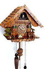 Schwarzwälder Kuckucksuhr Schwarzwaldhaus Quarzwerk Schindeldach echtes Holz NEU