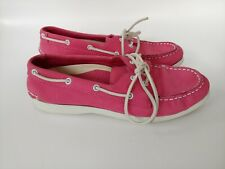 Maui Island Capri Pink Leather Boat Shoes Moccasins Women's Shoes Size 8 M