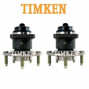 For Chevrolet Pontiac Pair Set of 2 Front Wheel Bearings & Hub Assemblies Timken