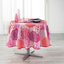 Adunivers -NAPPE RONDE (0) 180 CM POLYESTER IMPRIME FLAMENCO ROSE-100% POLYESTER