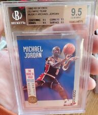 1992/93 Michael Jordan Skybox Olympic Team #USA11 BGS 9.5 GEM MINT 4x9.5s Grades