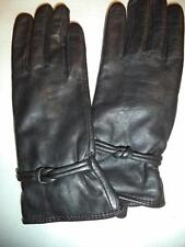 Grandoe Love Knot Genuine Leather Gloves,Black, XL