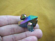 (R1-33) iridescent Aurora Crystal quartz titanium GEM gemstone Aura specimen