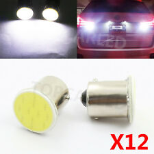 12pcs High Power White 1156 BA15S P21W 1 COB LED Reverse Backup light Lamp Bulbs