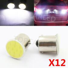 12pcs High Power White 1156 BA15S P21W 1 COB LED Reverse Backup light Lamp Bulbs