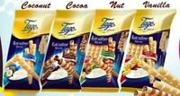 TAGO Fine Cream Filled Wafer Rolls SELECTION Chocolate Vanilla Hazelnut Coconut