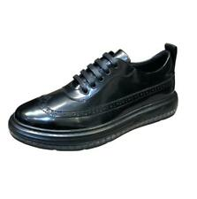 Mens Business Real Leather Shoes Brogue Wing Tip Carved British Dress Formal New