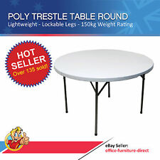 Trestle Table Round Poly Folding Leg Tables Outdoor Furniture Function Event