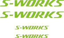 4 X PEGATINAS - STICKER - VINILO - S-WORKS - SPECIALIZED Bicicleta - Bike Vinyl