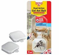 Zero In Dual Action Gel Ant Bait Killer Station Trap 2 Units ZER965