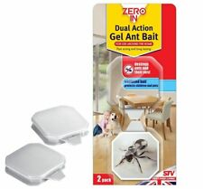 Zero In Dual Action Gel Ant Bait Killer Station Trap 2 Units ZER965