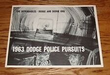 Original 1963 Dodge Police Pursuits Sales Brochure 63 880