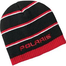 Polaris Black/Red Striped Beanie - One Size - Genuine Polaris - Brand New