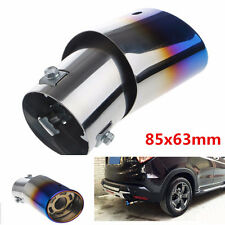 Car Stainless Steel Chrome Round EXHAUST Tail Muffler Tip Pipe Universal Fits