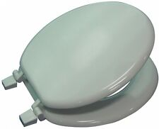 Project Source White Wood Round Toilet Seat Durable Easy to install Gloss Finish