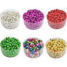 100 Pcs Christmas Colorful Iron Loose Beads Jingle Bells Pendants Charms 8x6 mm