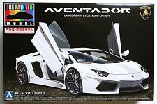AOSHIMA pre-painted No.43 1/24 Lamborghini Aventador LP700-4 white model kit