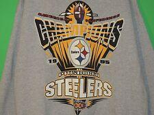 VTG 1995 Pittsburgh Steelers AFC Champions Men's Size XL Starter Gray Sweatshirt