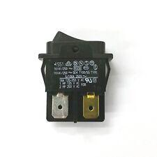 Marquardt 1551 SPST ON-OFF Black Rocker Switch w/ Low Flange 16A 250V AC, 28V DC