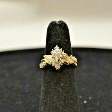 10k y/g Ring w/Diamonds. Size 5.5