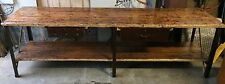 Industrial Vintage  Timber Rustic  Work Bench Cafe Kitchen Table 3 Metres