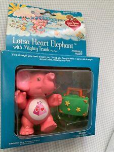 Vintage 1985 Kenner Care Bears Cousin - Lotsa Heart Elephant Poseable Figure Toy