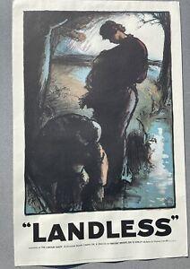 LANDLESS Rare Historic Labour Party Poster 1910 Reproduction/Reprint 1971