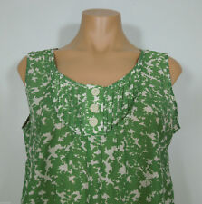 BANANA REPUBLIC Silk Blend Leaf Print Green Cami Top Petites size M