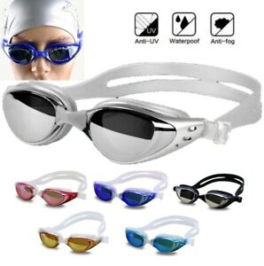 Anti Fog Anti UV Swimming Swim Goggles Glasses Adjustable Eye Protect Adult