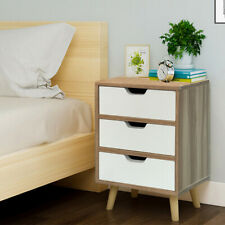 Retro Bedside Table Cabinet Chest of Drawer Storage Bedroom Furniture Unit legs